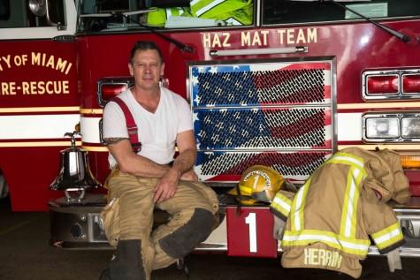 Firefighter Rick Herrin Visits Gables