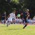 The Cavalier Varsity soccer team in action.