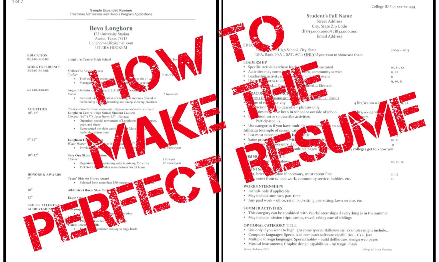 cavsconnect how to build the perfect resume
