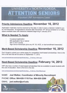 UNF Admissions Info