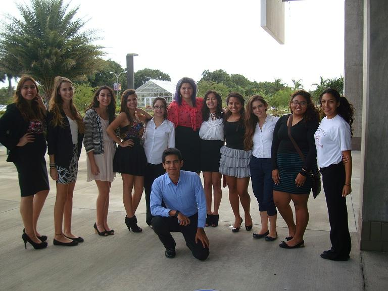 Students gathered in the front of Miami Dade's North Campus to compete in FCCLA.