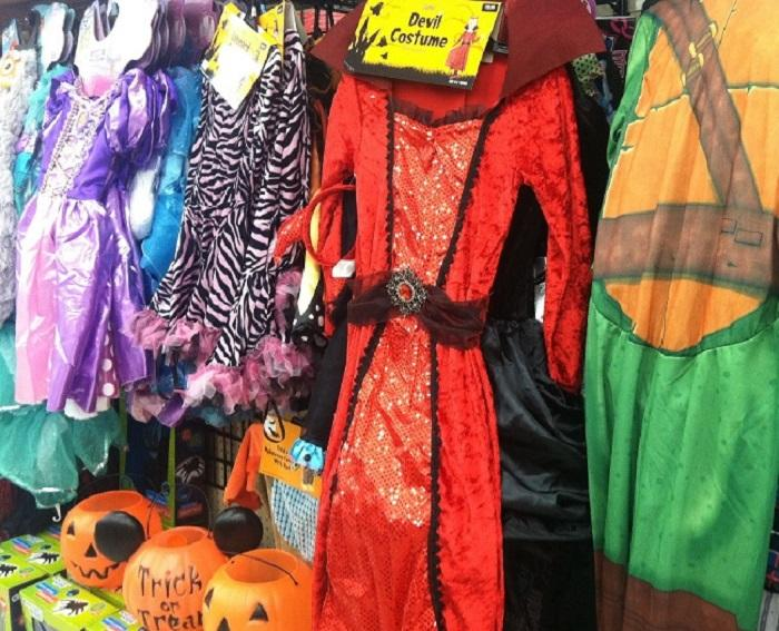 A variety of Halloween costumes are available almost anywhere during the month of October