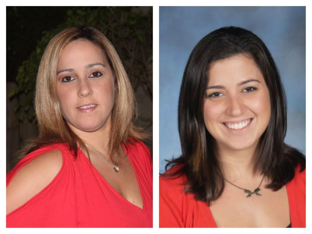 The 2013-2014 Coral Gables Teachers of the year. Ms. Alvarado (left) and Ms. Zaldivar (right).