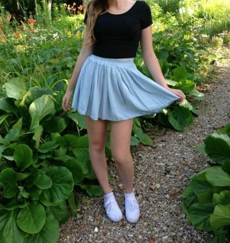 Skater skirts and cropped shirts are the fashionable must haves for the upcoming spring season.