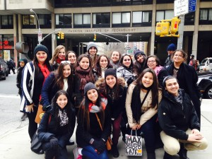 The group of fashion students visit one of their listed colleges, The Fashion Institute of Technology.