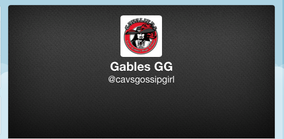 Where you can find Gables Gossip Girl on Twitter
