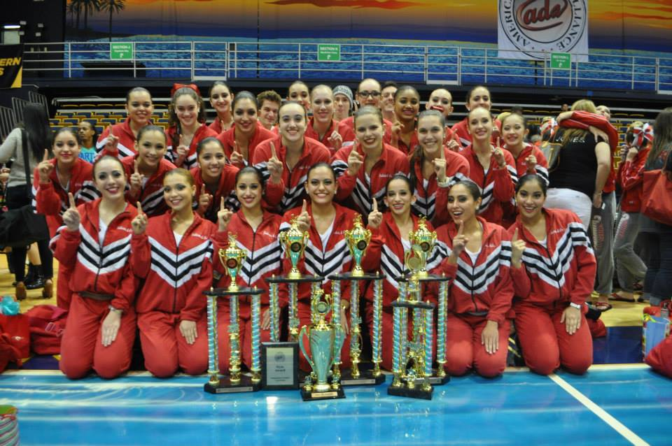 The Gablettes with their well deserved trophies.