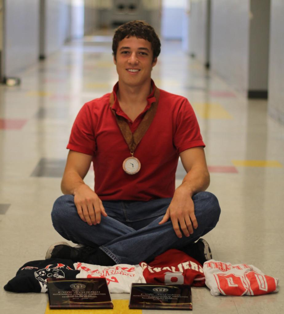 Scanlon showcases his awards and activities which attributed to his success in receiving the Coca Cola Scholarship.