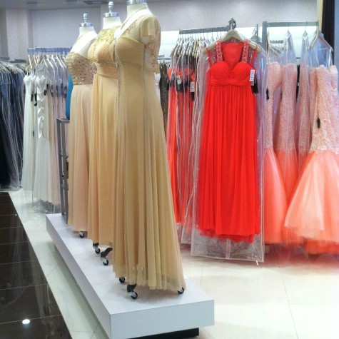 This store, Camille La Vie, is found in International Mall and is recommended to find the most magnificent prom dress in a price range of your choice.