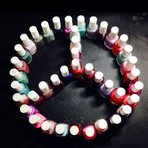 Nail polishes come in all colors to give you a variety of combinations to choose from.