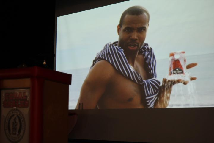 Isaiah+Mustafa+stars+in+an+Old+Spice+commercial+that+was+shown+at+the+assembly.