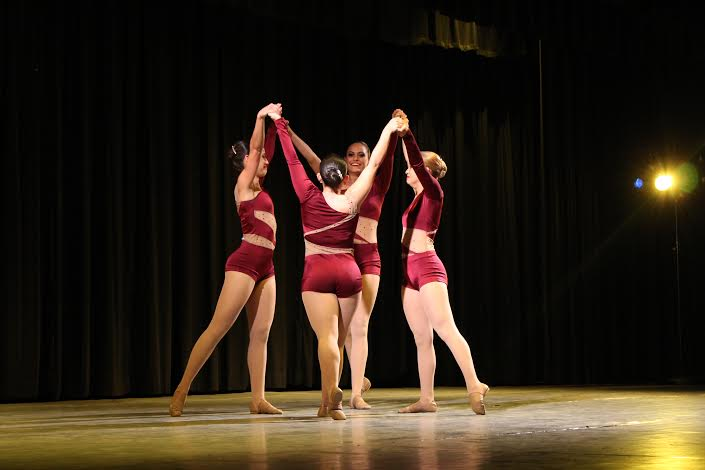 Senior Gablettes perform side by side in one of their last performances on the Gables stage.