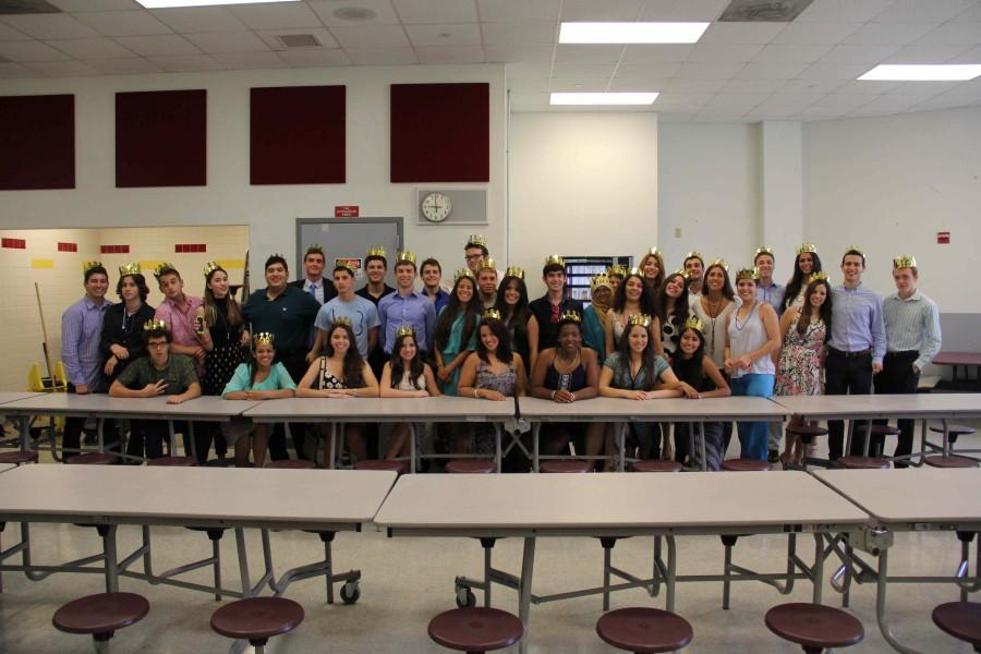 As the breakfast ends, the IB seniors join together and take one large group picture.