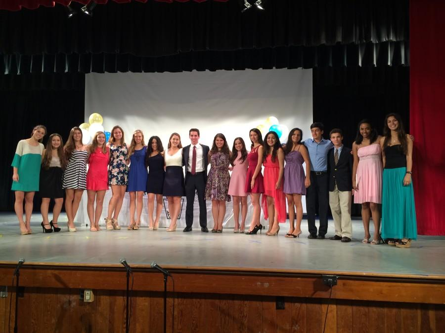 Current and incoming NHS officers stand together as the Induction Ceremony comes to a close.
