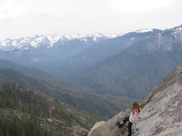 Claire at Kings Canyon National Park in California.