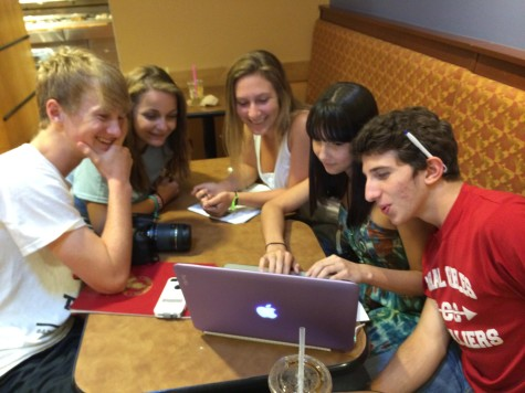 The Senior Class of 2015 working diligently to create a memorable year.