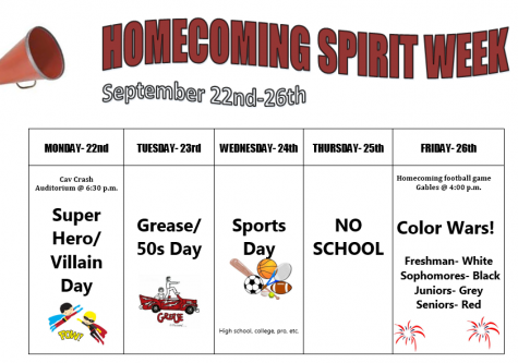 Homecoming Week is coming up! Here's what you need to know!