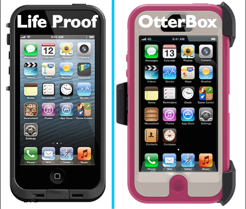 iPhone Life proof and iPhone Otterbox case