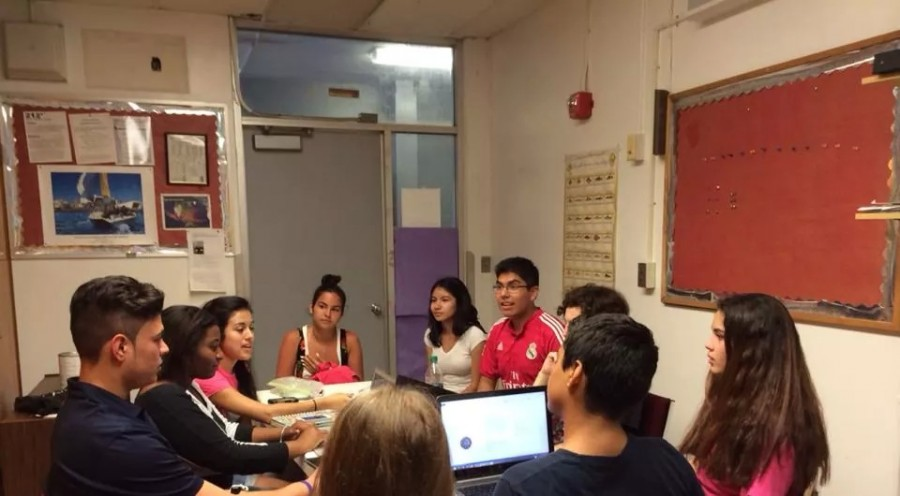 FBLA Board meets at the beginning of the school year to plan the upcoming year.