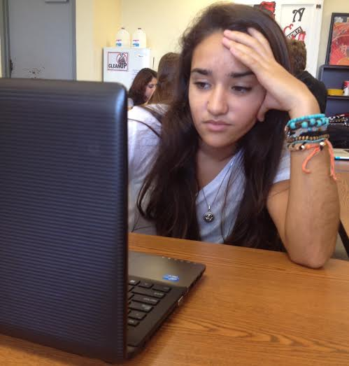 Students like freshman Tamara Sanchez might think that Reading Plus is not worth their time.
