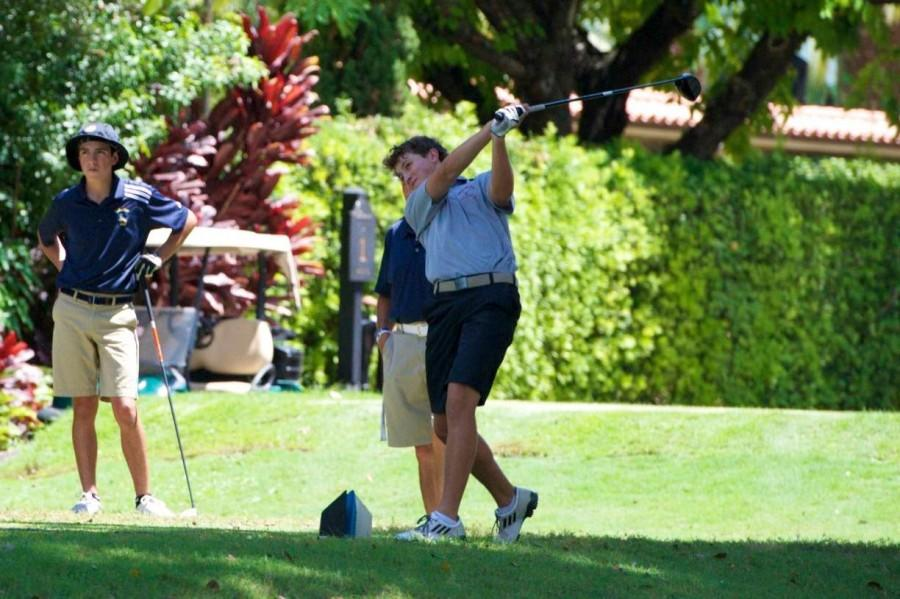 Thomas Nieves competing during a golf match.