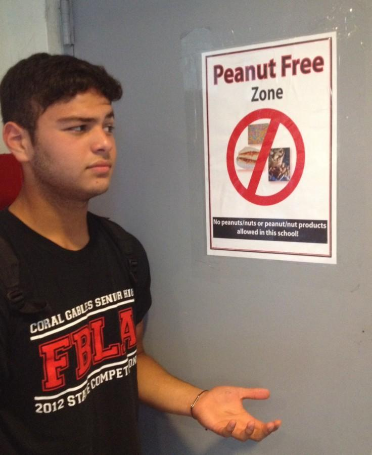 Students like freshman Christian Balsera may wonder why some students and teachers are not following the peanut policy at Gables.