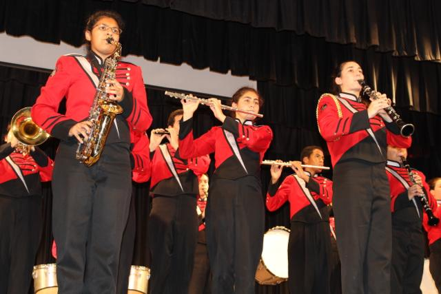 Gables band students show their skills at the Hispanic Heritage pep rally