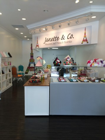 Janette & Co. sells macaroons, french pastries and gelato.