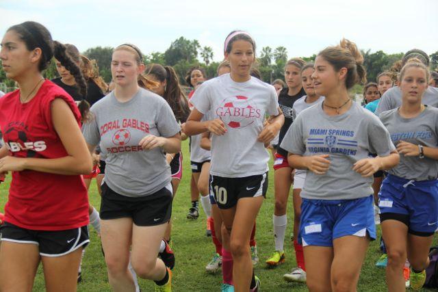 2014 -2015 girls' soccer tryouts.