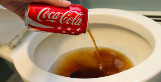 Pour some Coca-Cola into your toilet to leave it sparkly clean.