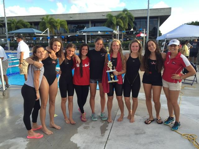 The girl's swim team wins 1st place at GMAC!