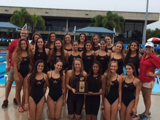 The girls swim team won districts once again, and now holds two straight district titles to its name.