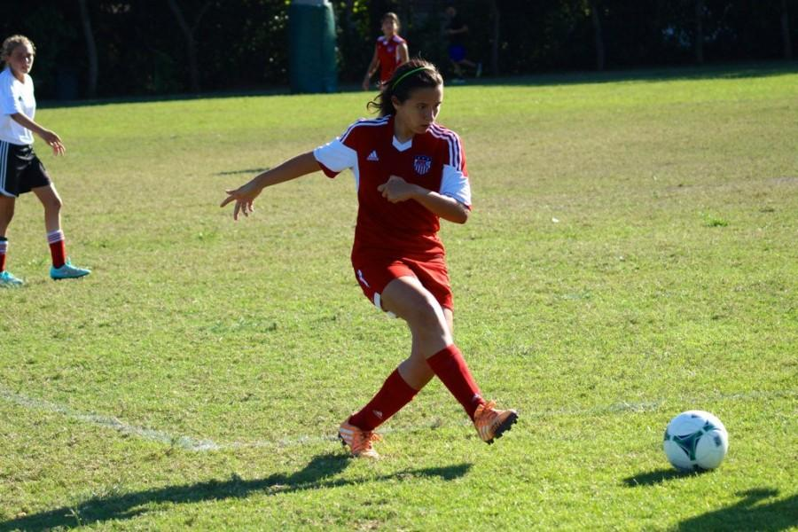 Balladares works hard every day to improve her defensive skills