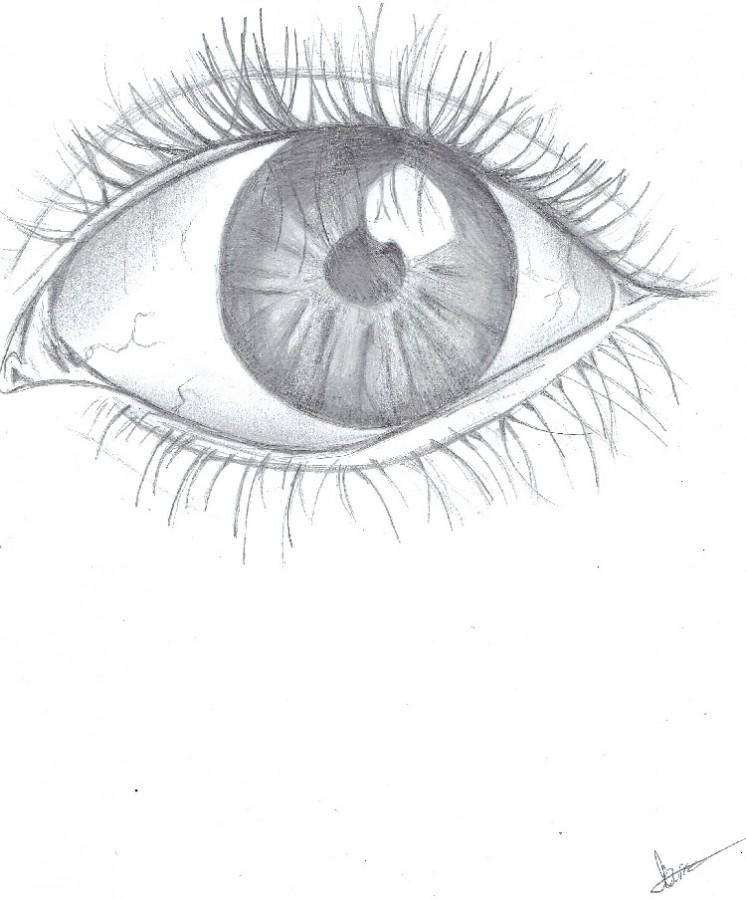 Drawings of eyes are some of the many doodles that can provide insight into a person's true thoughts.