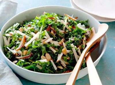 Kale & Apple Salad with Figs and Walnuts