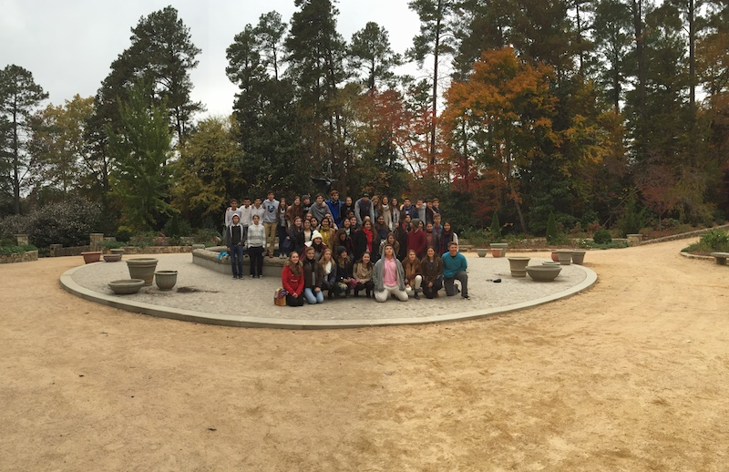 Juniors visiting Duke University.