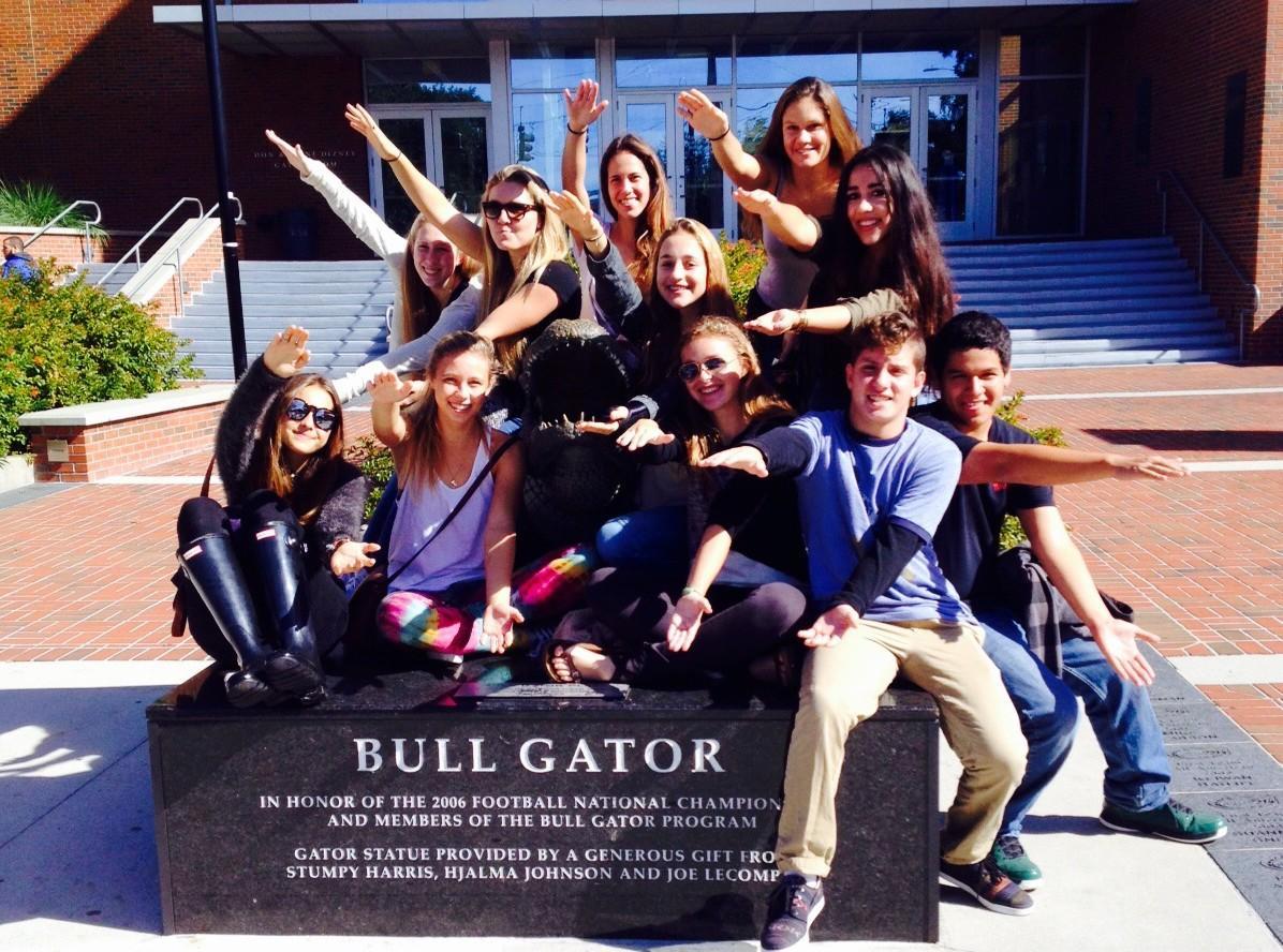 Cavaliers expressing their Gator pride!