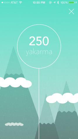 Yakarma points convey the popularity of a person's profile.