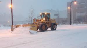 Snowplows have been needed to clean up all the snow.
