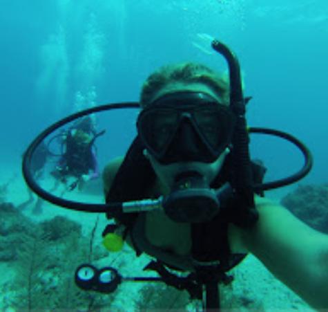 Senior Hanna Payne really enjoys scuba diving.