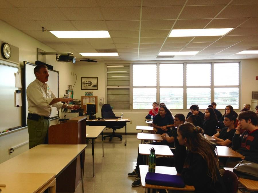 Well known zoologist, Ron Magill came to Gables on January 13, 2014 to speak to students about his career in Zoology.