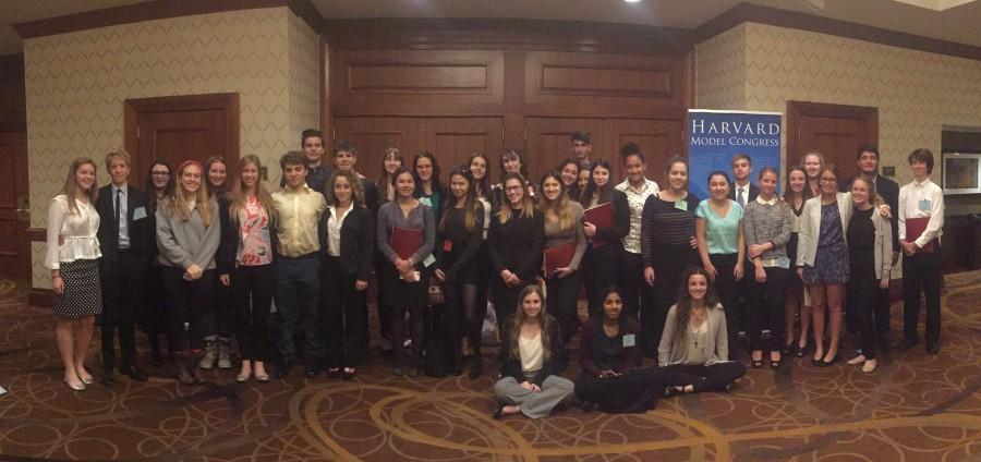 All of Gables 36 delegates stand together before they leave Boston to come home.