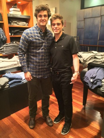 """Junior Lucas Serau has been able to meet many people at his job at Banana Republic, including some who are famous. Here he is pictured with Beau Mirchoff, star of the hit TV show """"Awkward."""""""