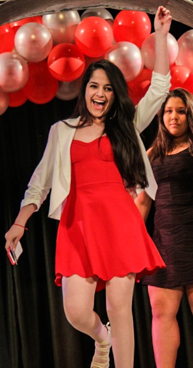 Gisselle Gonzalez poses at the Junior Ring Ceremony.