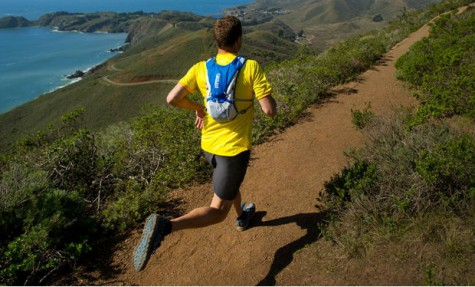 Take a run with CamelBak's Backpack Bottle.