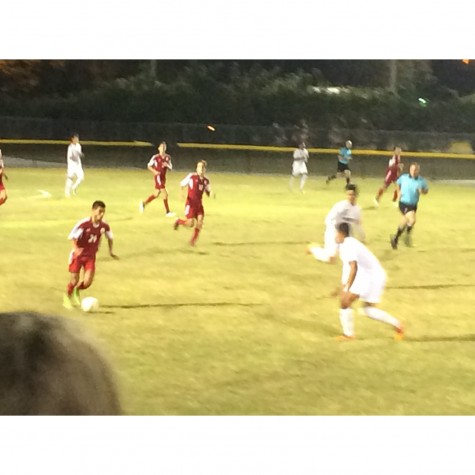 The Cavalier Boy's Soccer Team playing against Varela in the Regional Semifinals.