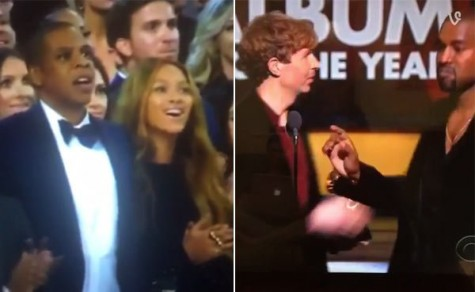 Beyoncé and Jay Z were shocked when Kanye went on stage and almost spoke over Beck.