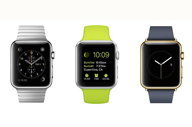 The Apple Watch (Left), The Apple Watch Sport (Middle), and The Apple Watch Edition (Right) are some of Apple's latest projects.
