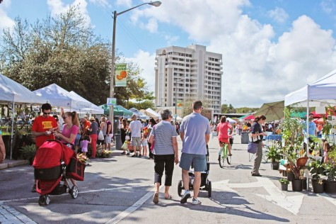 Spend your morning at the farmers market for a healthy and fun experience.