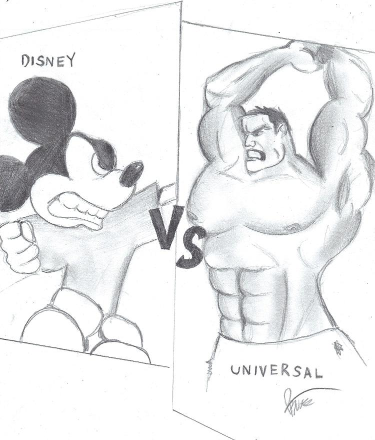 Disney+World+vs.+Universal+is+an+intricate+comparison+of+each+parks+many+unique+features.+